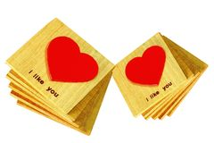 Wooden heart Stock Photography