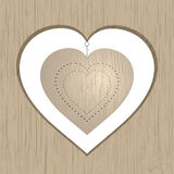 Wooden heart Stock Photo