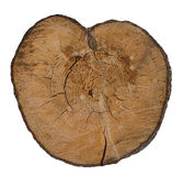 Wooden heart. royalty free stock photo
