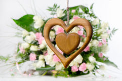 Wooden heart Stock Photos
