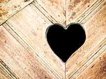 Wooden heart Royalty Free Stock Image