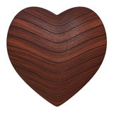 Wooden heart. On a white background Vector Illustration