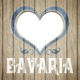 Wooden heart Bavaria Stock Images