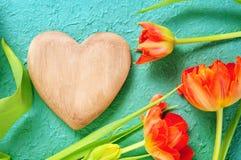 Wooden heart Stock Photo