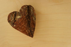 Wooden heart. On colorful background Royalty Free Stock Photo