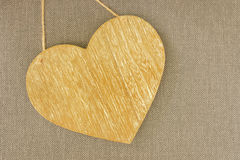 Wooden heart. On colorful background Stock Image