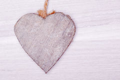 Wooden heart decoration Royalty Free Stock Photo