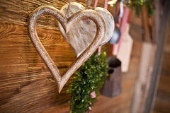 Wooden heart decoration Stock Photography