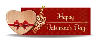 Wooden Heart For Valentines Day Stock Image
