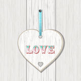 Wooden heart love sign Stock Photos