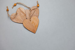Wooden heart for love Royalty Free Stock Photography