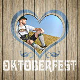 Wooden heart Oktoberfest Royalty Free Stock Photos