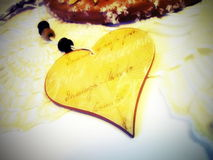 Wooden heart Stock Photos