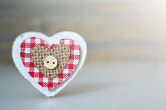 Wooden heart ornament Stock Photos