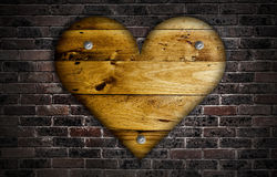 Wooden heart. Royalty Free Stock Photos