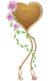 Wooden heart pendant royalty free illustration