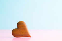 The wooden heart. Royalty Free Stock Photo