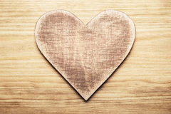 Wooden heart Stock Images