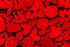 Wooden Heart Shape abstract background for love and romance conc Stock Photos