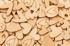 Wooden Heart Shape abstract background for love and romance conc Royalty Free Stock Photo