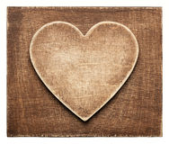Wooden heart shape background. Brown wooden heart shape background Royalty Free Stock Photo