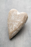Wooden heart shaped. Greeting Cards. Valentine's Day greeting. Royalty Free Stock Images