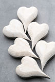 Wooden heart shaped. Greeting Cards. Valentine's Day greeting. Stock Photo