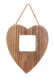 Wooden Heart-Shapped Frame Royalty Free Stock Photos