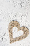 Wooden heart. Sign valentines day on painted cracked texture backgrounds Royalty Free Stock Images