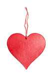 Wooden heart sign valentines day with rope knot Royalty Free Stock Images