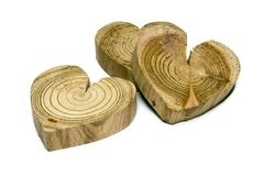 Wooden heart symbol Stock Photos