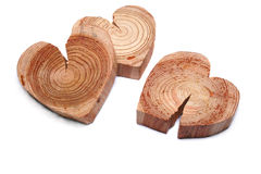 Wooden heart symbol Royalty Free Stock Photos
