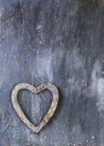 Wooden heart symbol Royalty Free Stock Photo