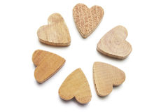 Wooden Heart Symbols Stock Photo