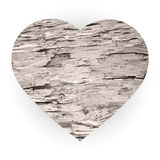 Wooden heart. Valentine's day decor Stock Photos