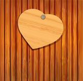 Wooden heart for Valentine's Day Stock Photography