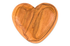 Wooden heart on white background Stock Photography