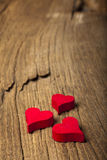 Wooden hearts Royalty Free Stock Image