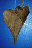 Wooden Hearts Stock Image