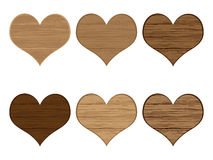 Wooden hearts Stock Photography