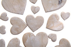 Wooden hearts background Royalty Free Stock Photo