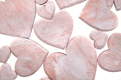Wooden hearts isolated Royalty Free Stock Image
