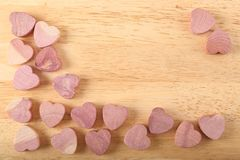 Wooden hearts. Royalty Free Stock Photo