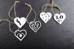 Wooden hearts. Stock Photography