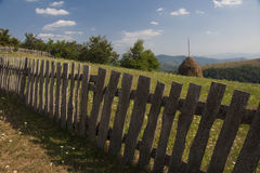 Wooden hedge. In Romania, district is called Banat Stock Photo