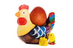 The wooden hen about an egg Royalty Free Stock Photography