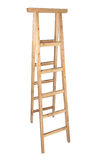 Wooden herringbone ladder Stock Photography