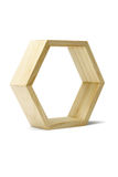 Wooden hexagonal ring Royalty Free Stock Photos