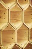 Wooden hexagons Stock Images