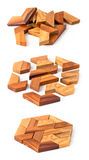Wooden hexahedron puzzle Royalty Free Stock Photos